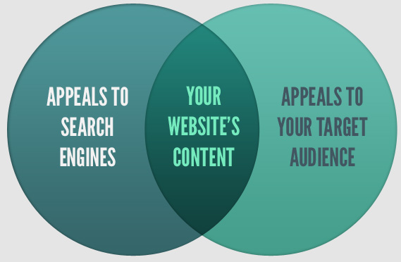 your website's content should appeal to search engines and your target audience